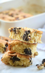 Chocolate Walnut Blondies | Freezer Friendly Recipe