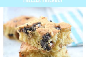 Chocolate Walnut Blondies | Freezer Friendly Recipe