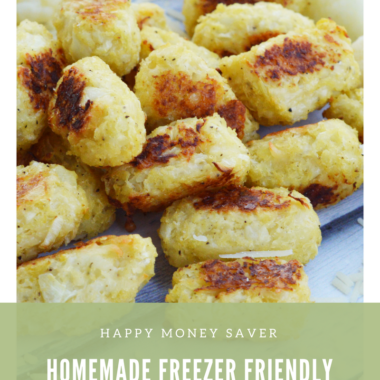 Homemade Freezer Friendly Cauliflower Tater Tots