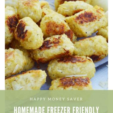 Freezer Friendly Cauliflower Tater Tots