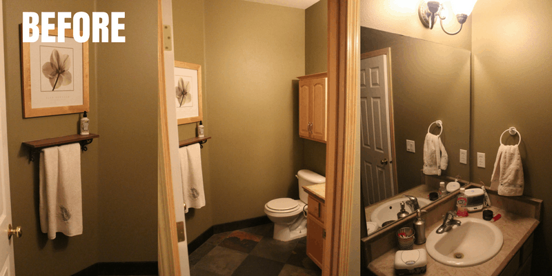DIY Bathroom Makeover BEFORE