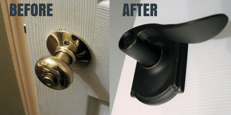 Easy Door Hardware Replacement for a Fresh Clean Look with Schlage