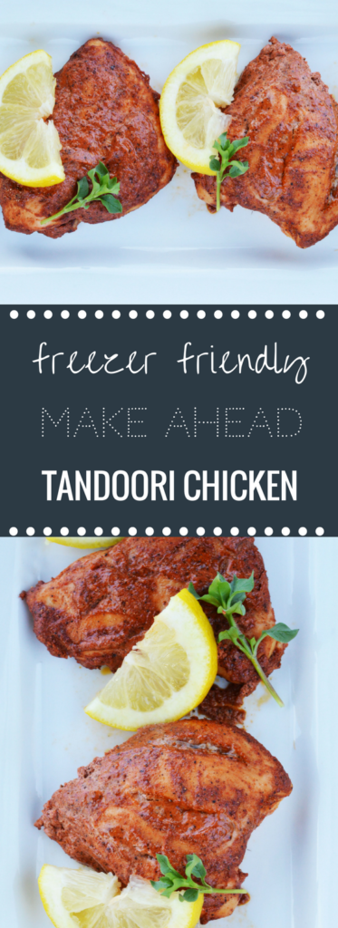 Easy Make Ahead Freezer Friendly Baked Tandoori Chicken | Happy Money Saver