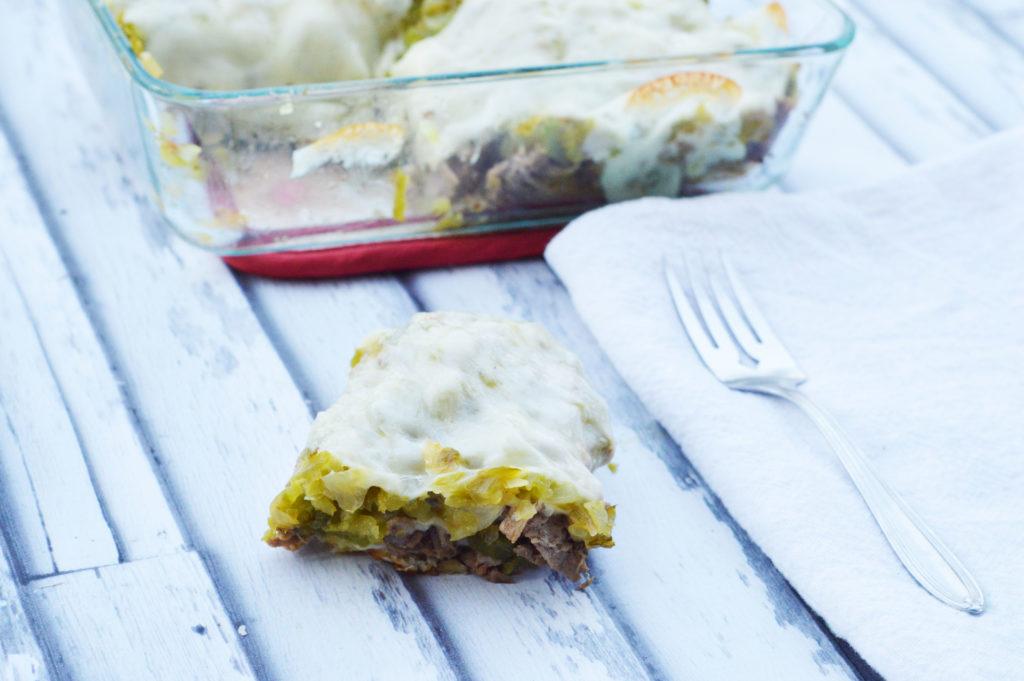Philly Cheesesteak Cauliflower Tater Tot Casserole | Happy Money Saver