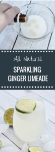 All Natural Sparkling Ginger Limeade | Essential Oils