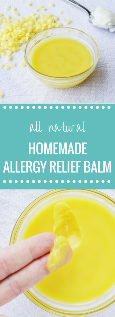 Homemade Allergy Relief Balm