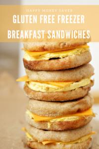 Gluten Free Freezer Friendly Breakfast Sandwiches
