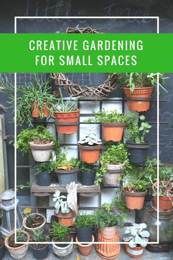 Creative gardening for small spaces apartment living for Gardening in small spaces
