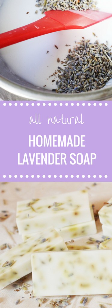 Homemade All Natural Lavender Soap