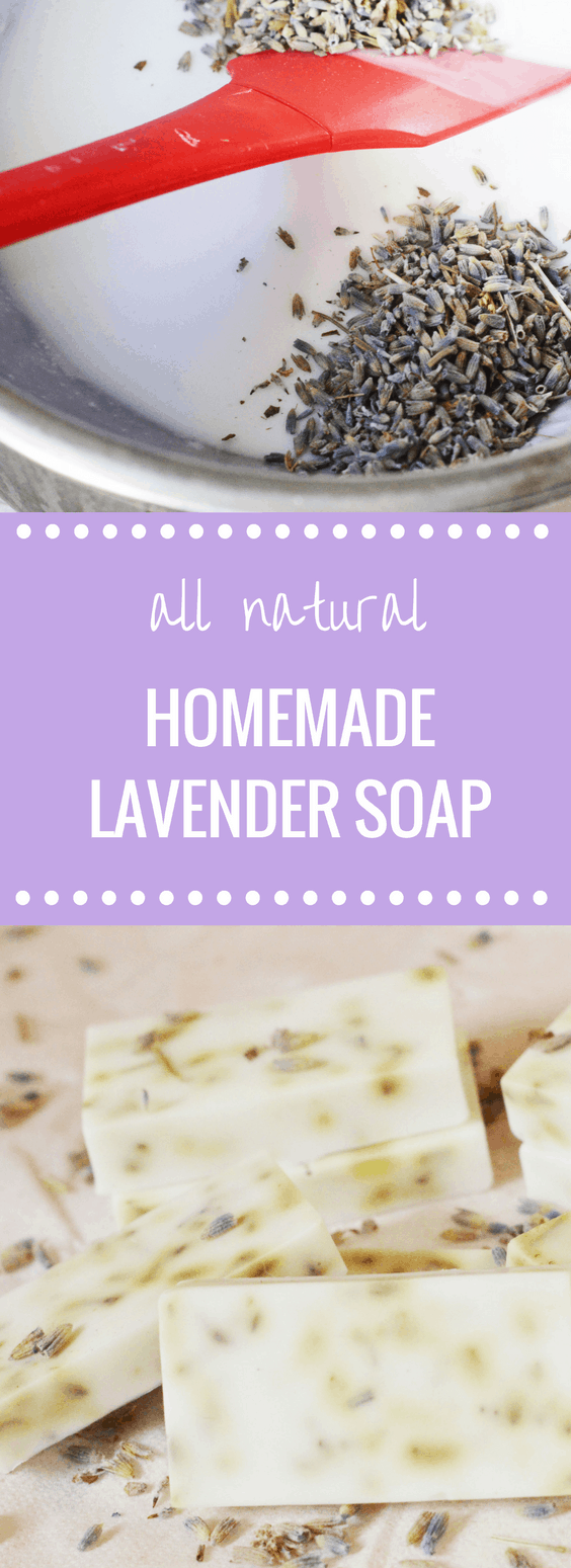 DIY All-Natural Lavender Soap | Happy Money Saver - If you love making your own household items as much as I do, you will love this simple, fresh smelling soap recipe!