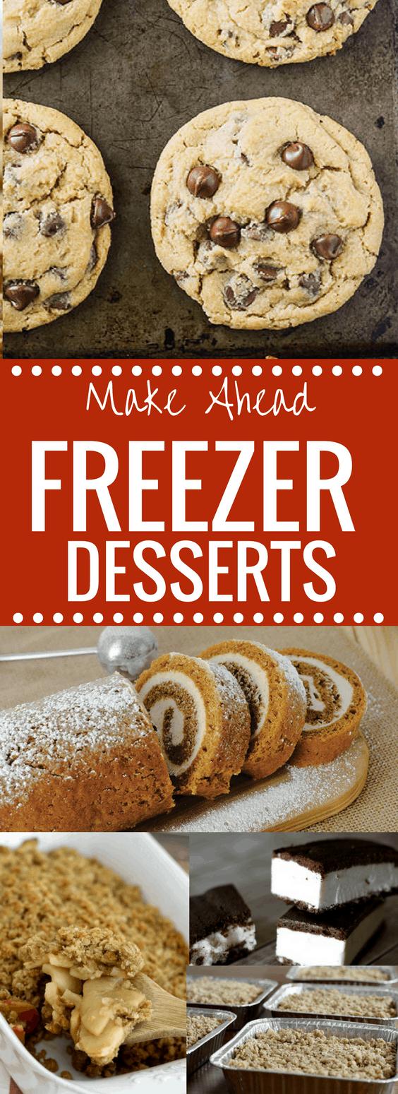 Make Ahead Freezer Dessert Ideas - freezer meals are the best! happymoneysaver.com