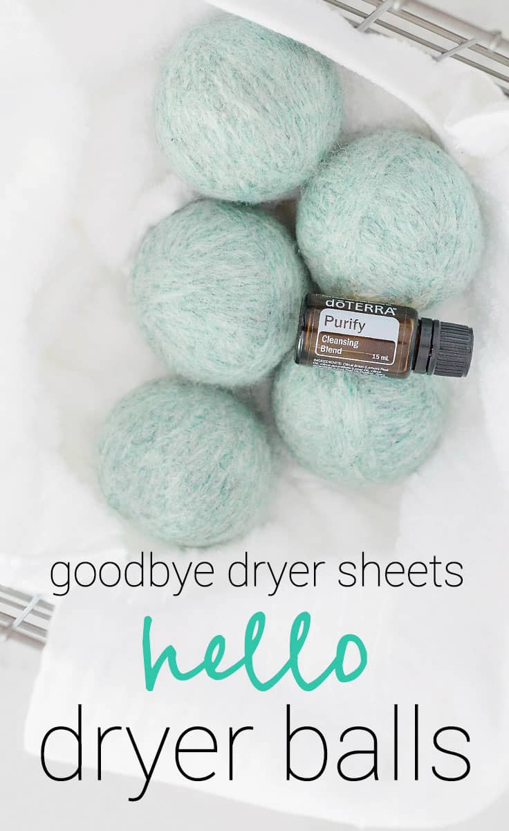 Dryer Balls are such a better alternative to expensive and wasteful dryer sheets. One set will last you a lifetime and save you tons of money.