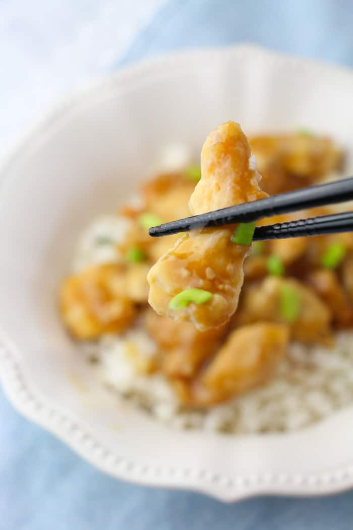 The most delicious orange chicken freezer meal recipe EVER.