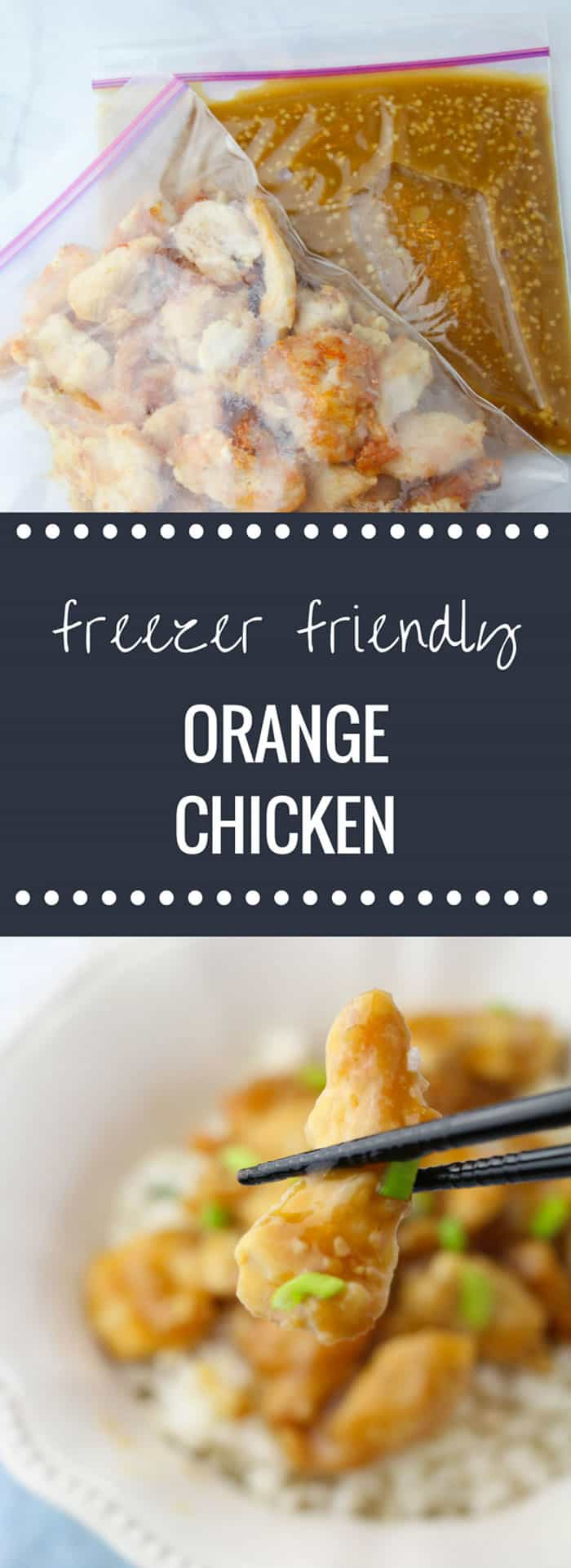 Delicious & Easy Orange Chicken Freezer Meal Recipe!!!