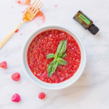 Brightening Raspberry-Basil Body Polish