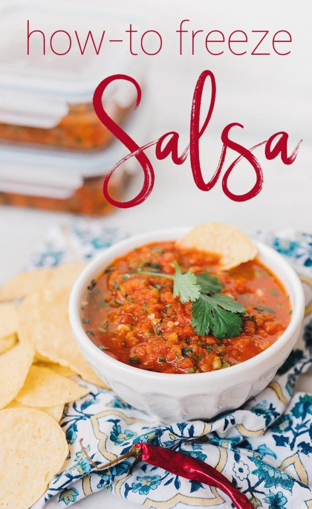 Learn how to freeze salsa to get the most bang for your buck! You can batch cook your salsa and portion it out into individual servings!