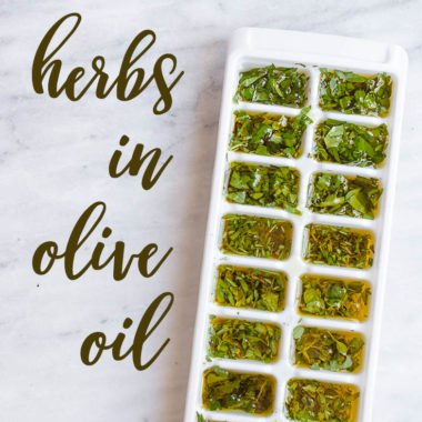 Preserving Herbs with Olive Oil