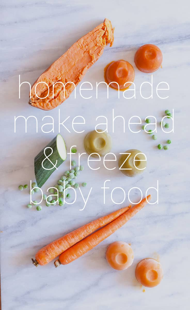 Making your own Homemade Make Ahead and Freeze Baby Food will save you time, money, and sanity. Plus, this baby food has added flavor to make your baby extra happy.