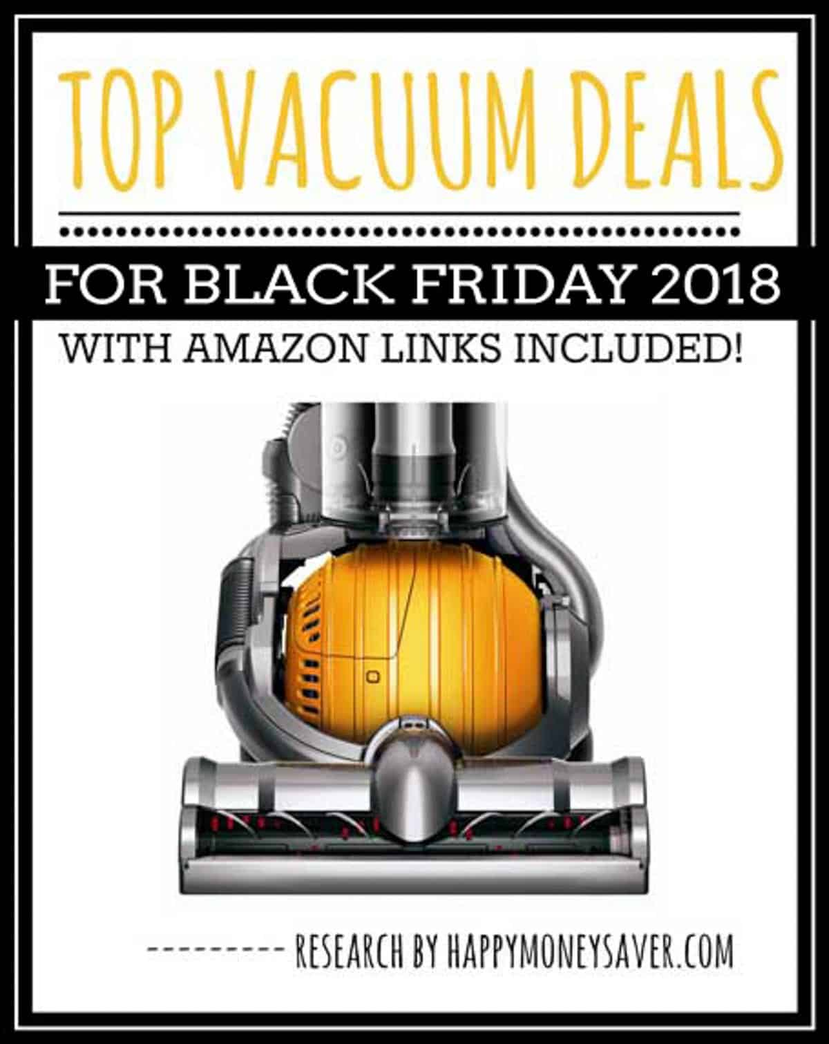 HUGE roundup of all the vacuum deals for Black Friday 2018! Black Friday Dyson deals, Robot vacuum, Hoover, Shark + more. Research is all done for you! You're gonna love this if you love saving money!