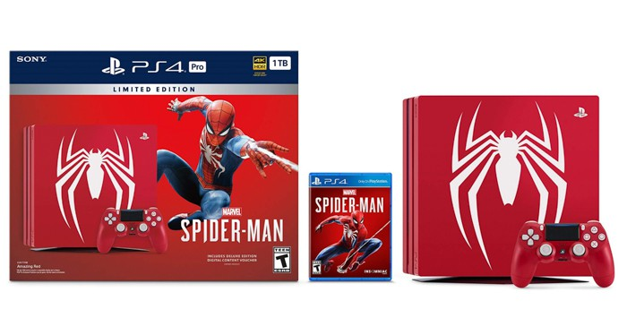 Playstation 4 Black Friday Deals 2018 on the spiderman bundle