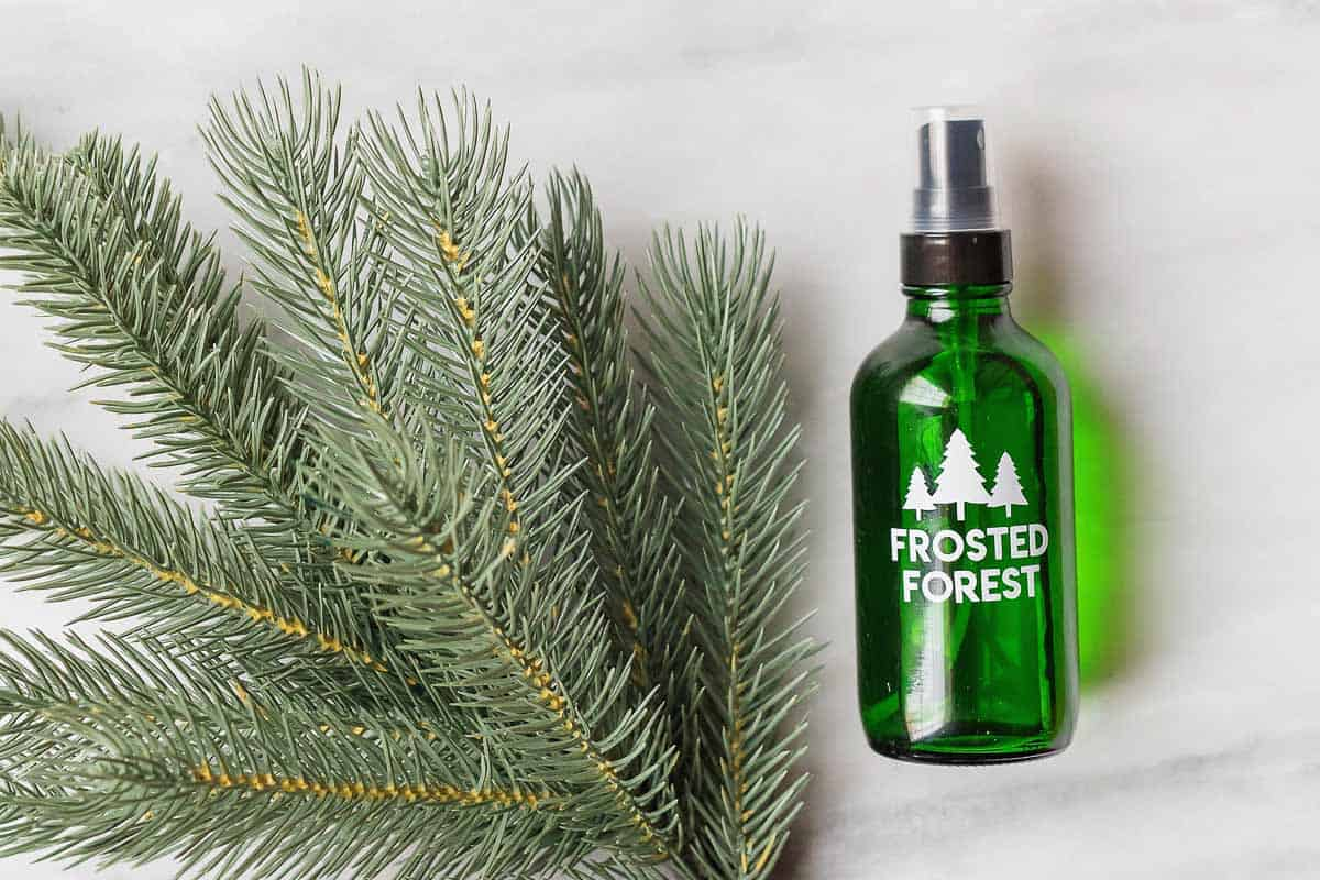 Enjoy walking through a frosted forest without leaving the comfort of your home with this Frosted Forest Room Spray.