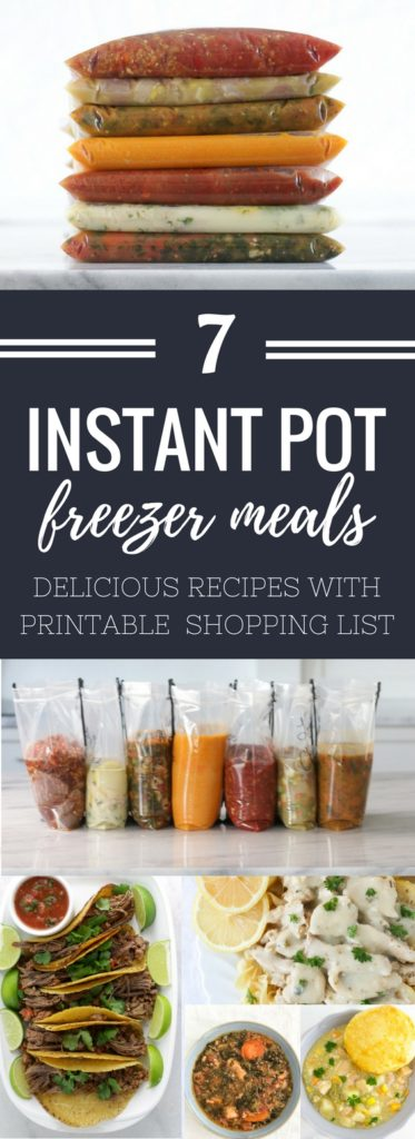 7 healthy instant pot freezer meals in 2 hours with free printable plan these seven healthy instant pot freezer meals are perfect to help anyone trying to save time and their waste line this year forumfinder Images