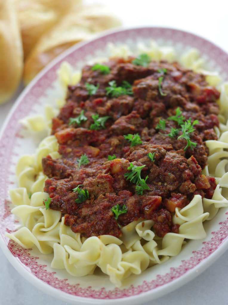 Instant Pot Turkey Bolognese Freezer Meal is healthy, low calorie and delicious!!