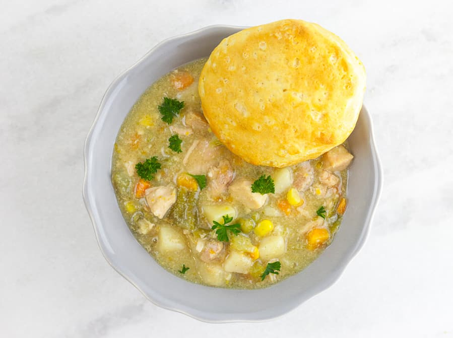 Light Slow Cooker Chicken Pot Pie Freezer Meal