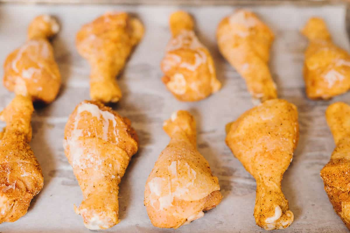 Spicy Honey Chicken Drumsticks Recipe to make ahead and freeze. Soooo good!