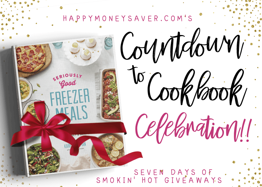 Countdown To Cookbook Celebration and Giveaway for cookbook Seriously Good Freezer Meals by Karrie Truman