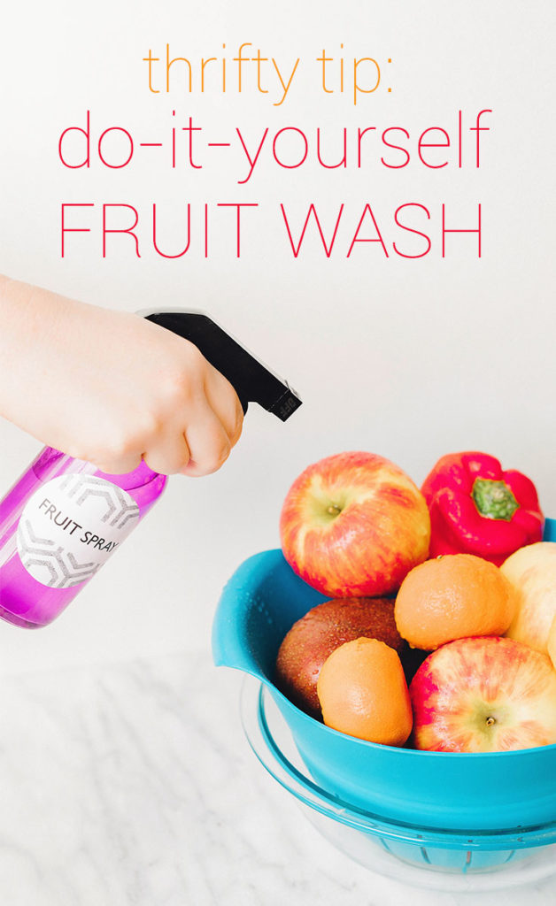DIY Fruit Spray Recipe - to wash those veggies!