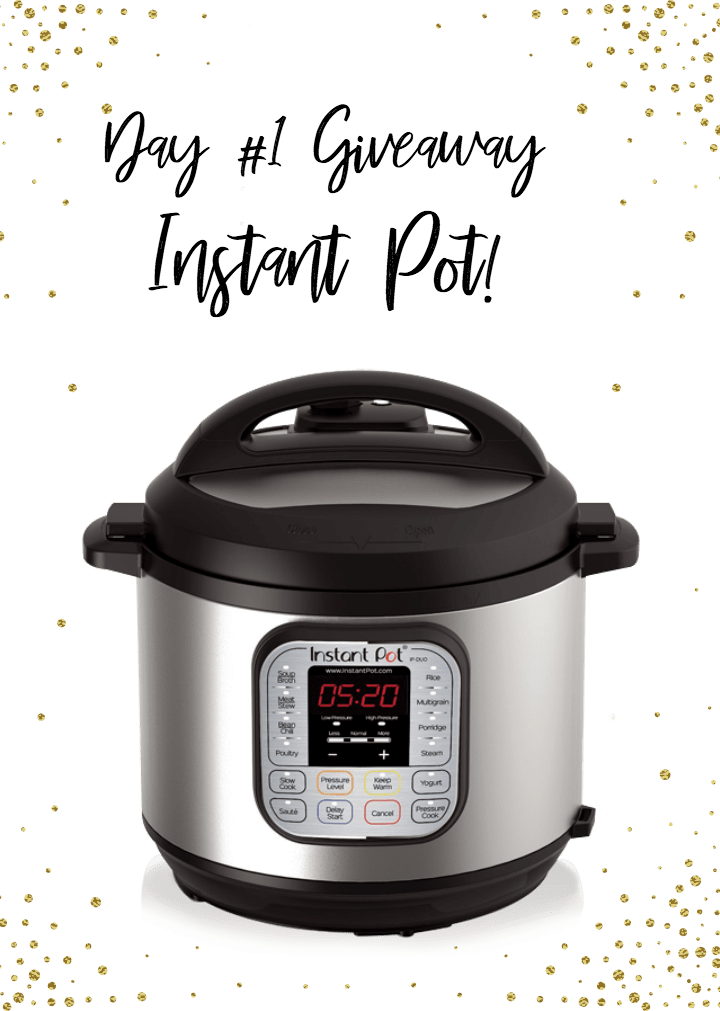 Seven Days of Giveaways happening at Happymoneysaver.com to celebrate her new cookbook officially releasing in one week! Day 1 is a chance to win an Instant Pot!