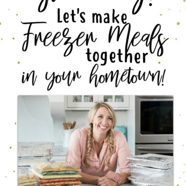 {EXPIRED} Cookbook Countdown Giveaway #7: Let's Make Freezer Meals Together in Your Home Town!