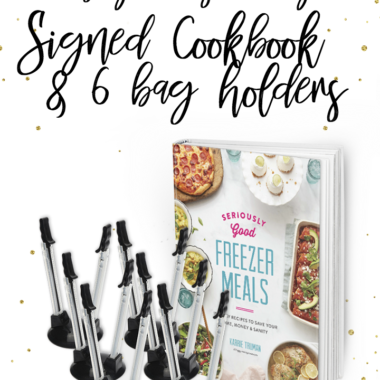 {Expired} Countdown to Cookbook Celebration! Giveaway Day #6 Bag Holders + Signed Copies of my Cookbook!