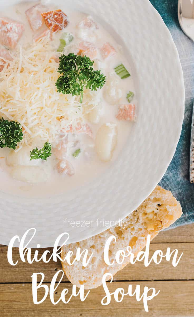 Chicken Cordon Bleu Soup Recipe is filled with all the delicate and savory flavors of chicken cordon bleu without all the work.