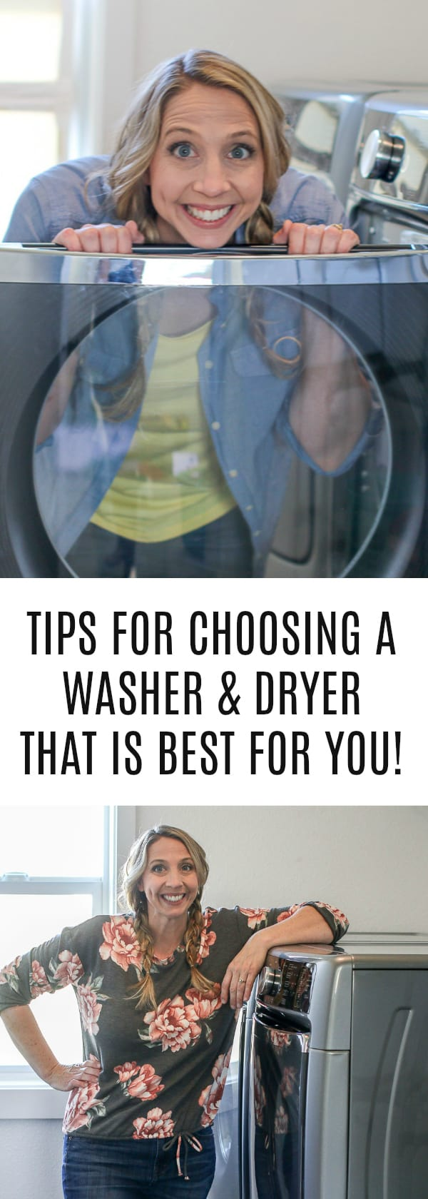 #sponsored How to choose a washer and dryer set that is best for you! Best tips & strategies plus I reveal the Maytag laundry set I picked out and why it's the best choice for me! If you are in the market for a new set too and on a budget, it's important to do your research!