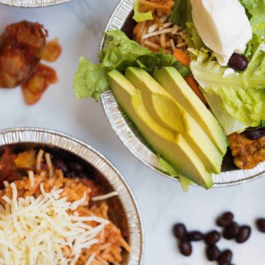 Chicken Burrito Bowls (Make Ahead & Freeze)