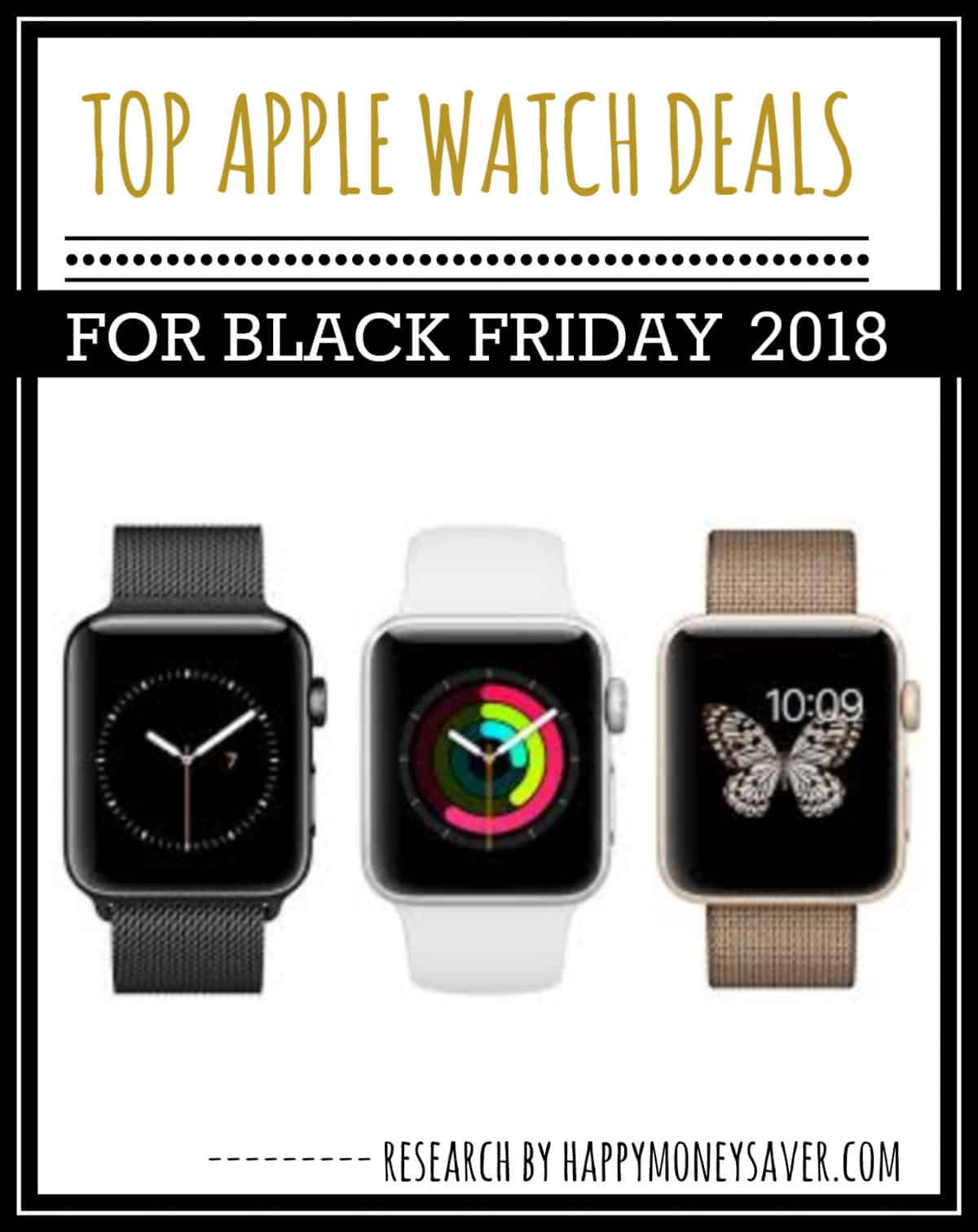 HUGE roundup of all the apple watch Black Friday deals for 2018! Research is all done for you! You're gonna love this if you love saving money!