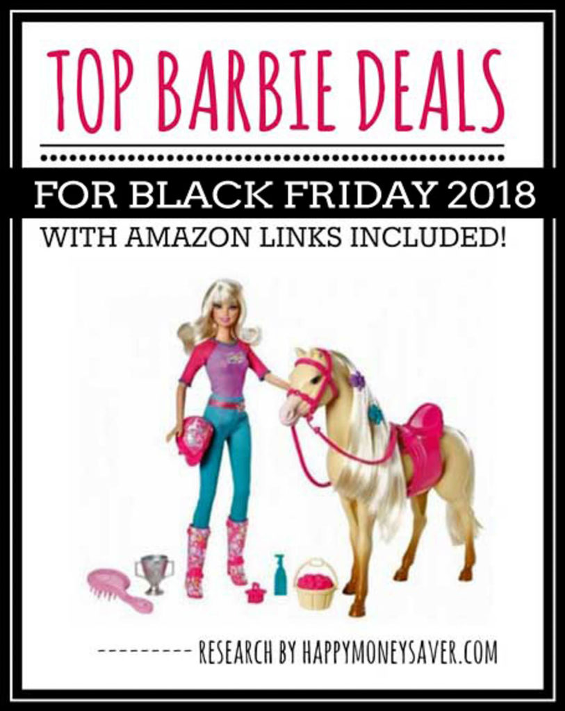HUGE roundup of all the Barbie Black Friday deals! Black Friday Barbie deals, Barbie Dreamhouse, barbie camper black friday deals and more. Research is all done for you! You're gonna love this if you love saving money!