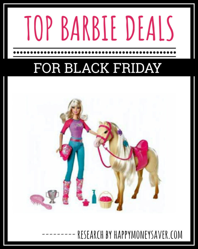 barbie deals for black friday with blonde barbie and horse