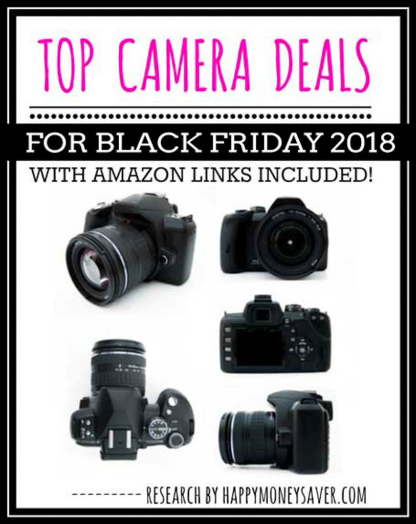 HUGE roundup of all the Black Friday Camera deals for 2018! Black Friday Canon camera deals, Nikon, Panasonic, Polaroid and other DSLR camera deals. Research is all done for you! You're gonna love this if you love saving money!