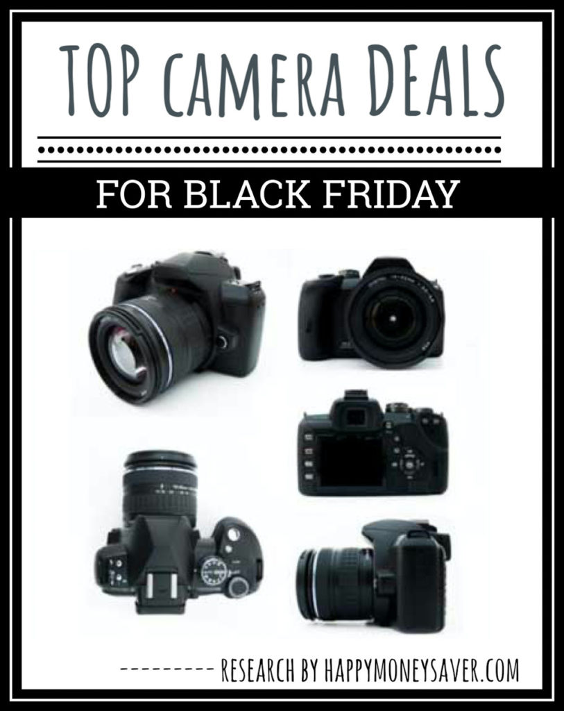 5 black cameras on white background  | black friday camera deals