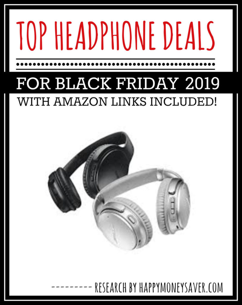 HUGE roundup of all the headphone deals for Black Friday 2019! Bluetooth headphones, beats dr dre headphones and more.