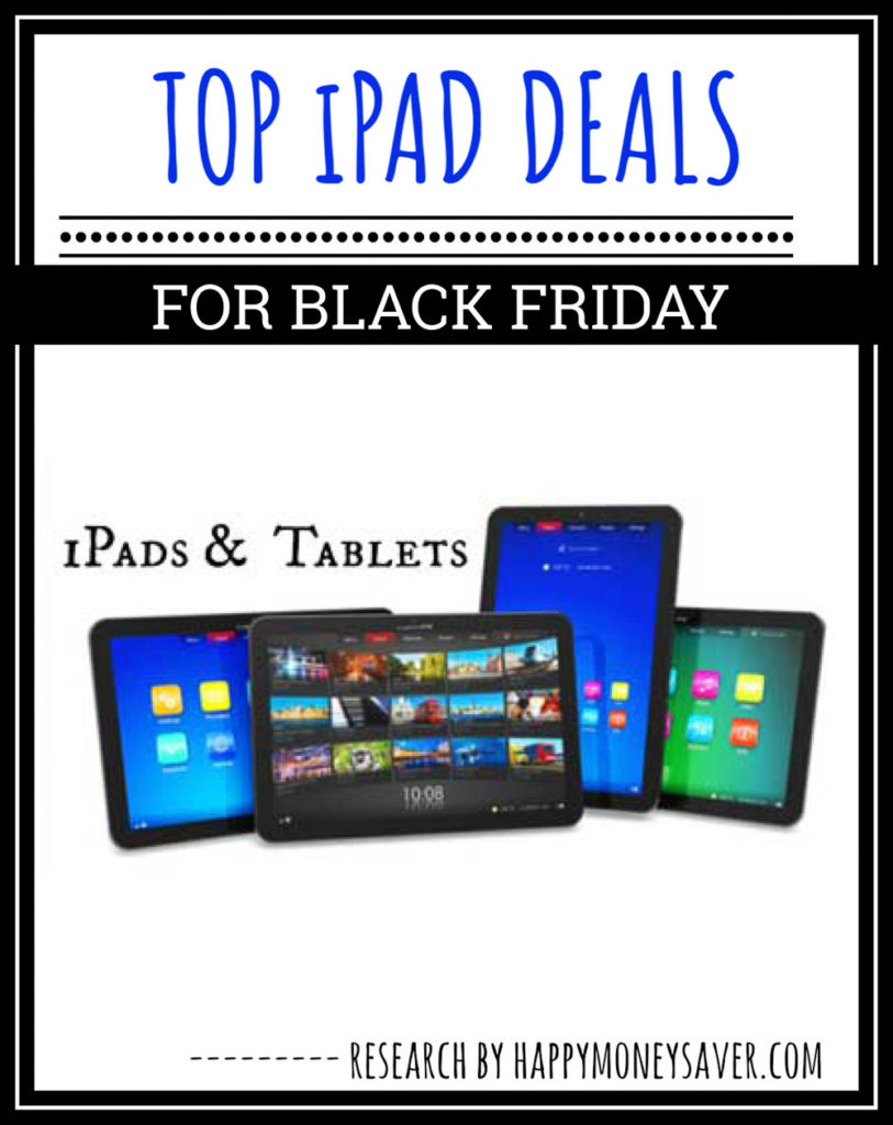 ipads and tables on white background for black friday deal promotion