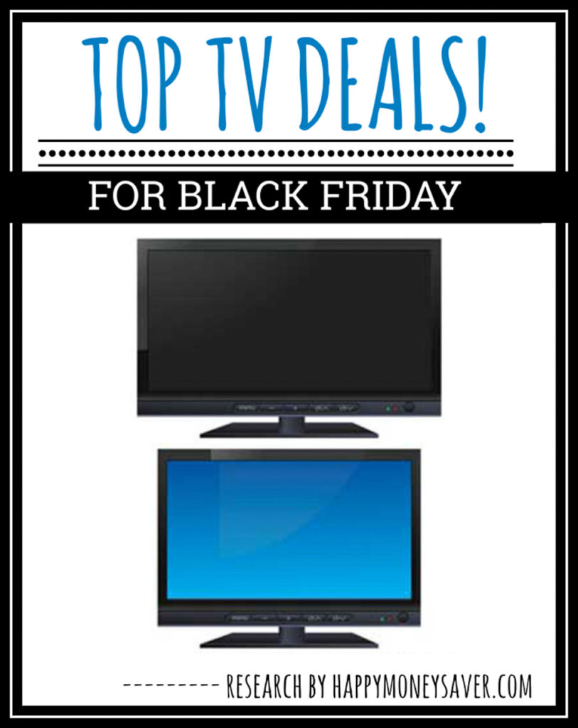 tv deals for black friday 2020 with picture of two tvs on white background