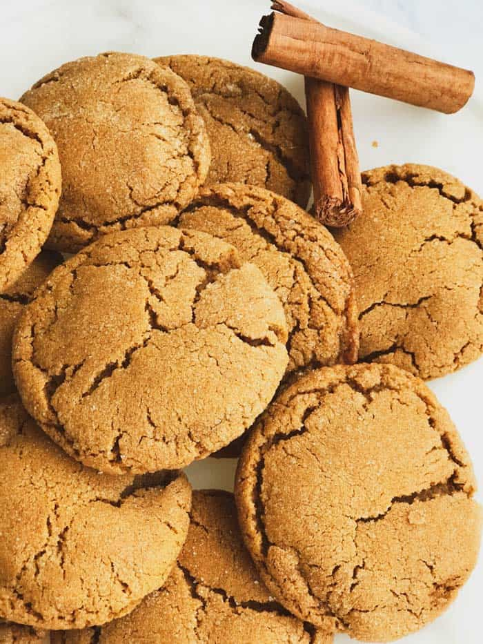 soft delicious chewy ginger molasses cookies