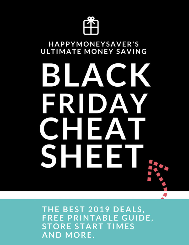 Black Friday Cheat Sheet from Happymoneysaver