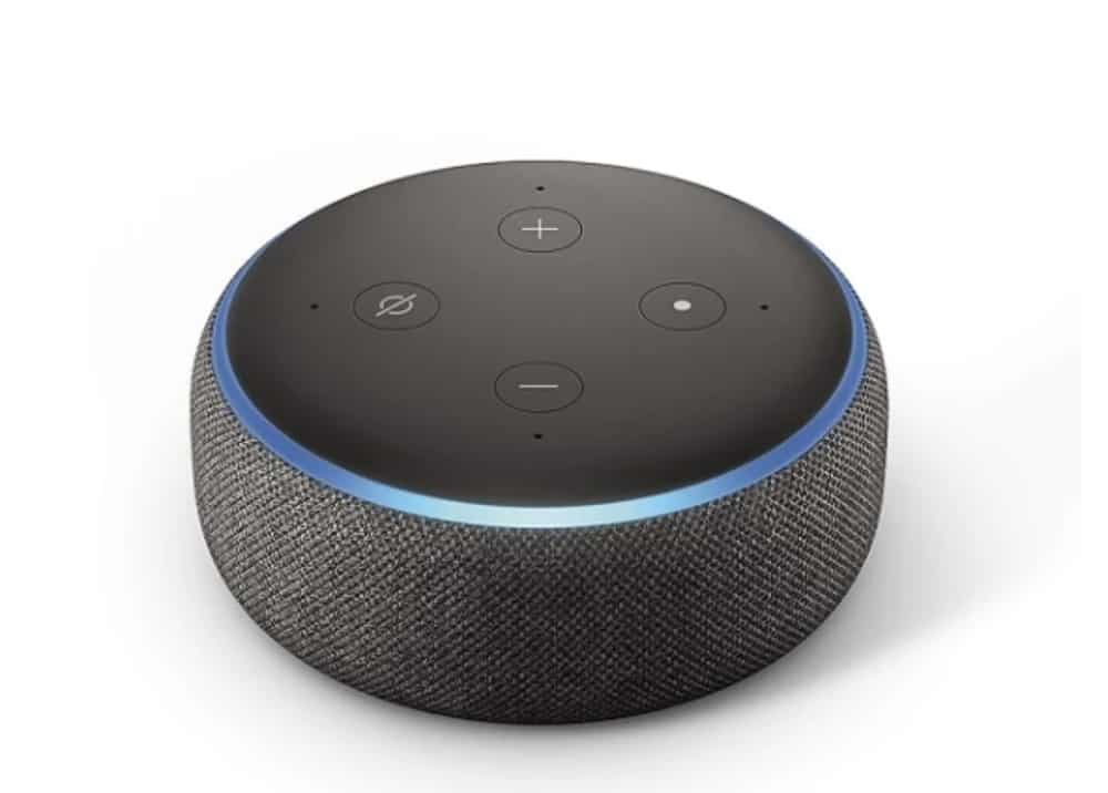 Image of the Amazon Echo 3rd generation smart home device. Black Friday 2019 smart home deals