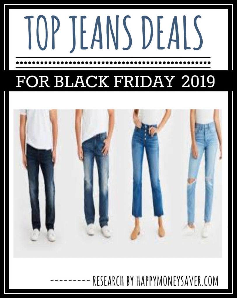 Here is a round up of all the top Black Friday Jeans Deals 2019