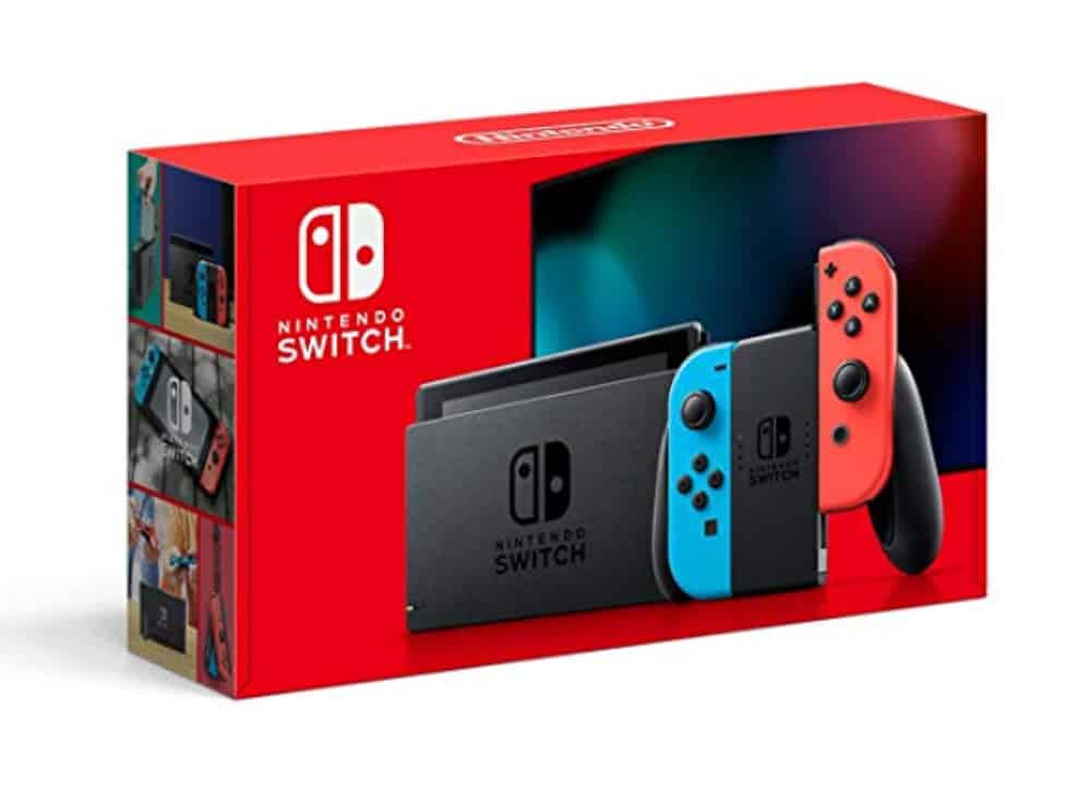 Red box Nintendo Switch Console